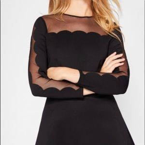 Ted Baker mesh skater dress black 4 10
